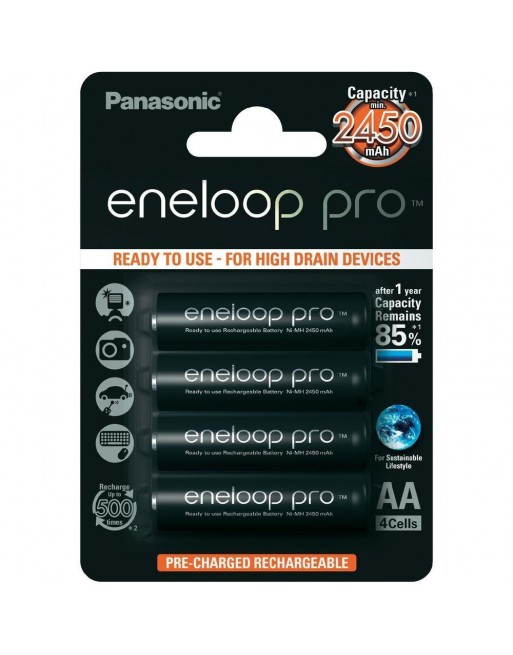 Panasonic Eneloop Pro 2450 AA accu