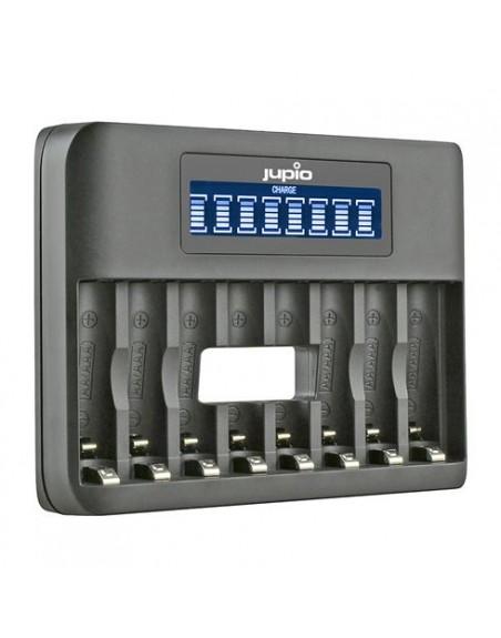 Jupio USB 8-slots Octo Battery Charger LCD